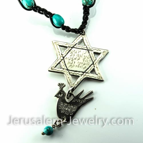 star of david necklace-106