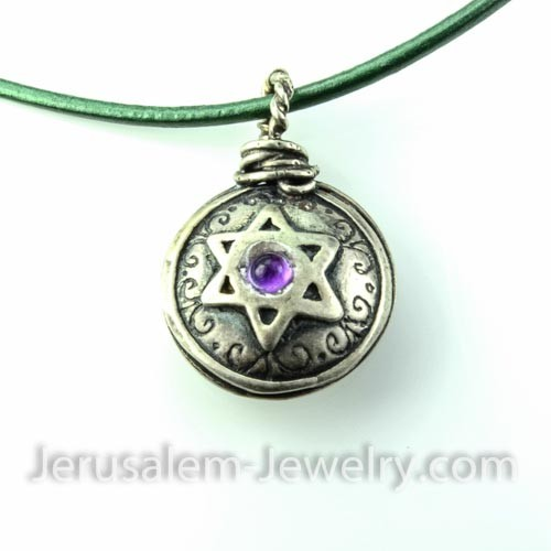 star of david necklace-127