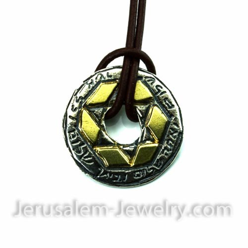 star of david necklace-313