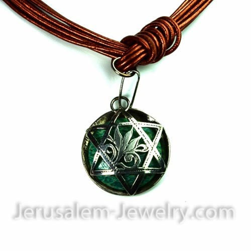 star of david necklace-471